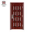 Porte en métal modèle maison récente dernière conception directe maison usine PHIPULO, prix de porte en acier de sécurité