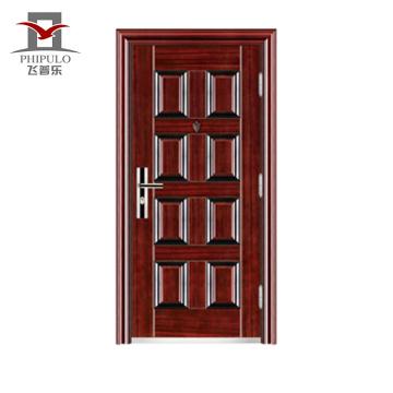 portas de aço de segurança de entrada residencial