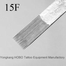 Barato calidad plana desechables tatuaje agujas de suministro
