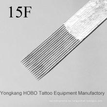 Baratos estándar de calidad plana desechables tatuaje agujas de suministro