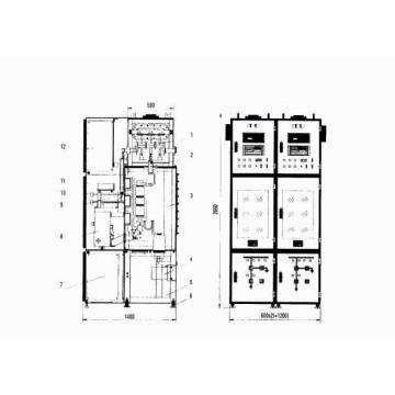 Indoor Gas Insulation Metal-Clad Switchgear (C-GIS)