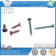 Color Zinc Plated Flat Head Phillips Self Tapping Screw
