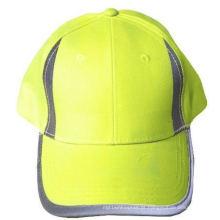 Chapéu de alta visibilidade com painéis reflexivos