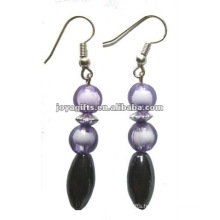 Fashion Hematite Oval Beads Earring