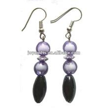 Moda Hematite Oval Beads Brinco