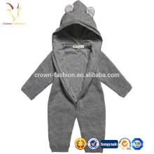 Layette confortável do bebê da caxemira da criança, roupa longa do infante da luva