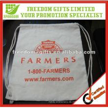 Kundengebundene Größen-Soem-Logo-Baumwollkordelzug-Tasche