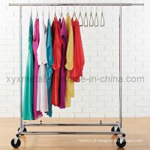 Rack de metal de aço inoxidável de aço inoxidável de moda para roupas femininas