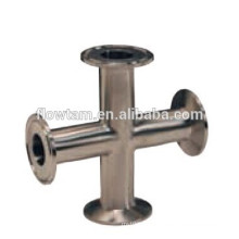 stainless steel pipe fitting clamp cross