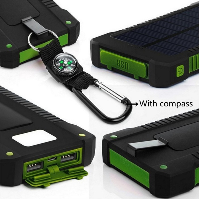 For Xiaomi Power Bank 20000 Mah Portable Solar Power Bank 20000mah External Battery Dual 23ports Powerbank