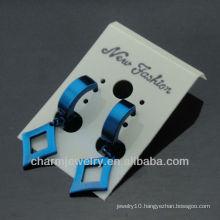 Fine Jewelry Blue Stainless Steel Men Higgie Studs Earrings HE-0087-2