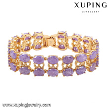 74467 -Fashion Luxury Big CZ Rhinestone Imitation Jewelry Bracelet for Wedding Plated with 18k Gold
