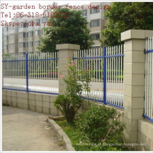 Projeto da cerca da beira do jardim