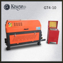 Enderezadora y cortadora de barra de acero hidráulica GT4-10, máquina para enderezar y cortar barras de refuerzo