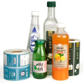 Customized transparent PVC water bottle label stickers
