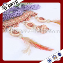2016 New Designed Handcraft Products for Home Decoration and Curtain Accessories of Handmake Feather and Beads Fringe