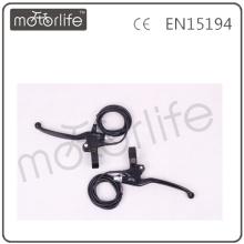 Palancas de freno de bicicleta Eelectric de aluminio, negras