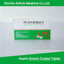 Планшет с аспирином с энтеросолюбильным покрытием