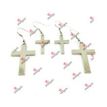 Metal de moda simple estilo cruz pendiente pendientes joyas (CPE51031)