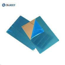 Alta calidad A4 A3 o tamaño personalizado Alta brillante placa de acero inoxidable / efecto espejo placa de acero para tarjeta de laminado