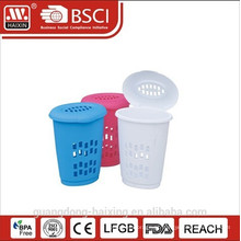 Cesta cesta de lavanderia/lavandaria com lid(39L) redonda redondo de plástico