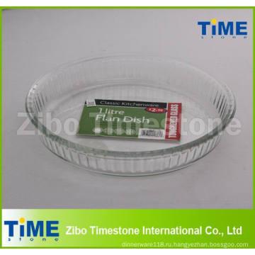 1 Литр Pyrex Стеклянный Круглый Микроволновых Печей Для Кекса