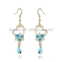 Promotion cheap aquamarine diamond chandelier earrings