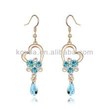 Promoção barato aquamarine diamante lustre brincos