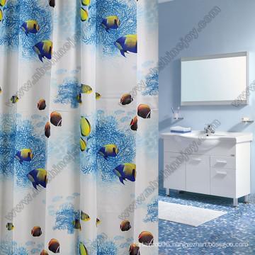 Fish Printed Shower Curtain