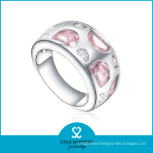 Hot Selling Pink 925 Sterling Silver Ring for Gift (R-0477)
