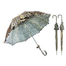 La peau animale conçoit le parapluie droit en dentelle de dôme (YS-SA23083908R)