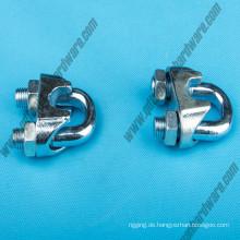 DIN741 Drahtseil Zubehör / Hohe Qualität Electro-Galvanized Steel Drahtseil Clip