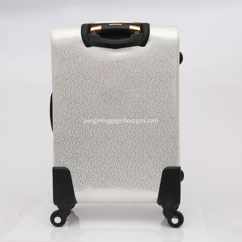 PU leather luggage with cosmetic bag