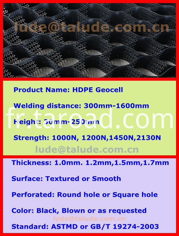 HDPE Textured Geocell