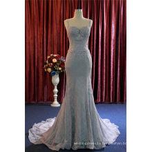 Fashion Mermaid Lace Sequins Bridal Evening Dress