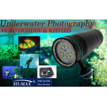 Hot sale UV8 diving video lighting 5600lm underwater diving flashlight video camera