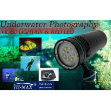 Видеокамера с подводным погружением для подводного плавания 5600lm