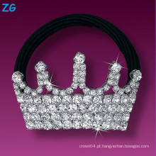 Elegante banda de cristal de cabelo francês, faixa de cabelo de cristal das senhoras, faixa de cabelo de coroa de jóias