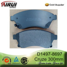D1497-8697 Premium Ceramic or Semi-Metallic Brake Pads for CHEVROLET Cruze (Europe) 2011