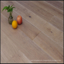 Smoked Brushed White Lacquer Engineered Oak Wood Flooring
