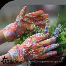 SRSAFETY flower print jersey gloves, knit wrist