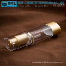 ZB-CB30 30ml guter Qualität als golden / SAN hohe klare Oval airless Plastikflaschen