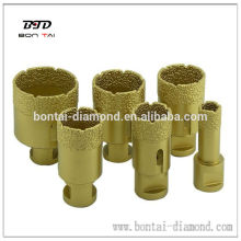 Diamond vacuum brazed hole saw drill core bit