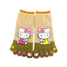 Children's cotton toe socks