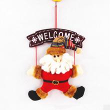Nouvelle décoration de Noël populaire en bois Santa Claus Hang Décoration