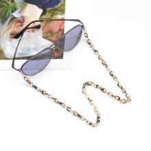 2020 2021 Korea japan stylish mini hoop linked kid necklace leopard acetate face masking chain holder