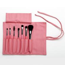 Rosa PU-Beutel mit 7 Make-up-Pinseln