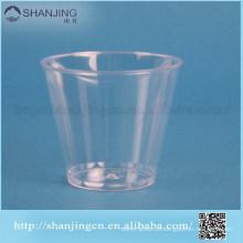 claro copo de sorvete eco friendly SGS descartável copo de plástico