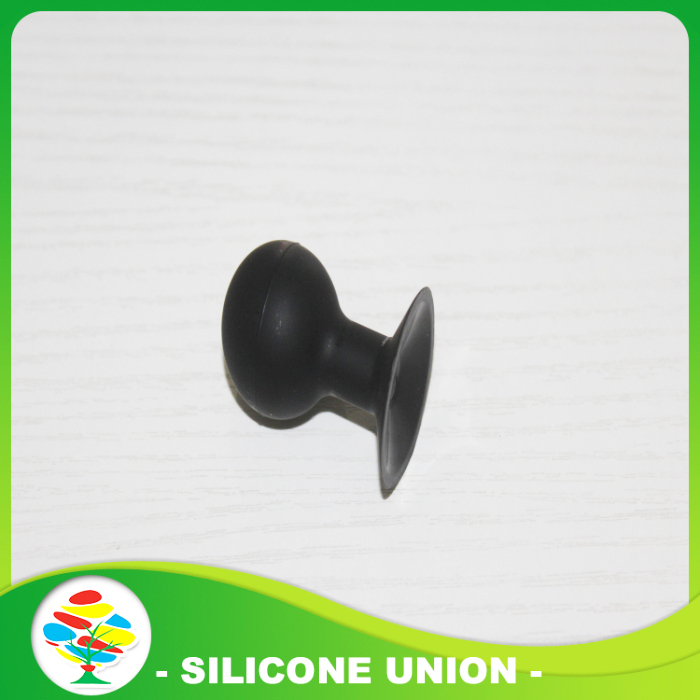 black silicone cellphone holder