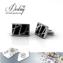 Destiny jewellery Crystal From Swarovski Mr Oil Paint 3 Cufflinks
